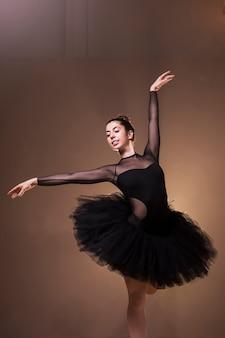 Medium shot ballerina smiling