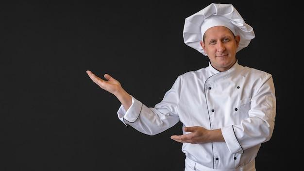 Cappello da portare del cuoco unico del colpo medio