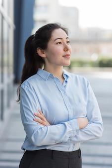Medium shot confident business woman