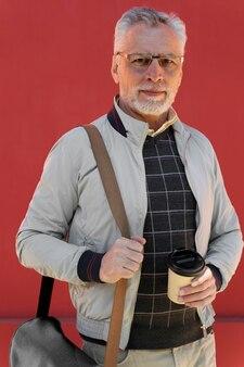 Medium shot man with cup