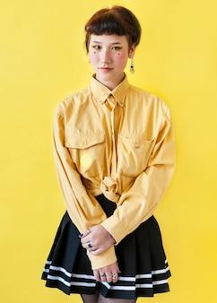 Medium shot of stylish lady
