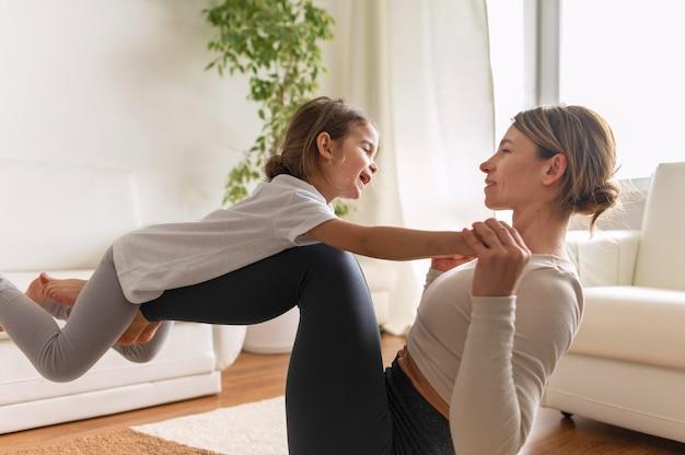 Тренировка среднего кадра для женщин и детей