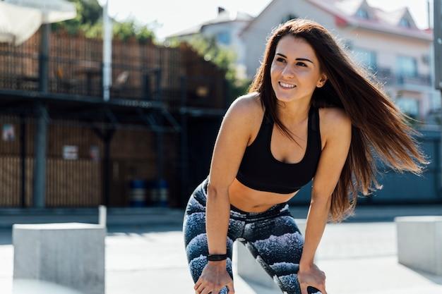 Medium shot of woman training