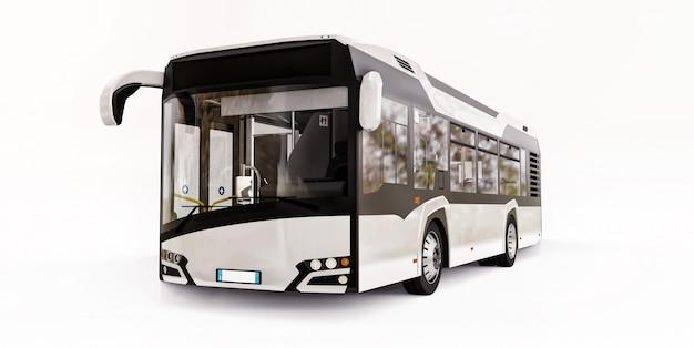 Mediun urban white bus
