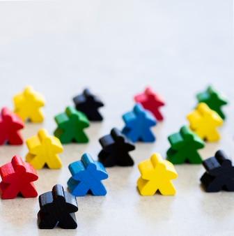 Meeple board game pieces