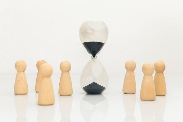 時間の概念での会議。