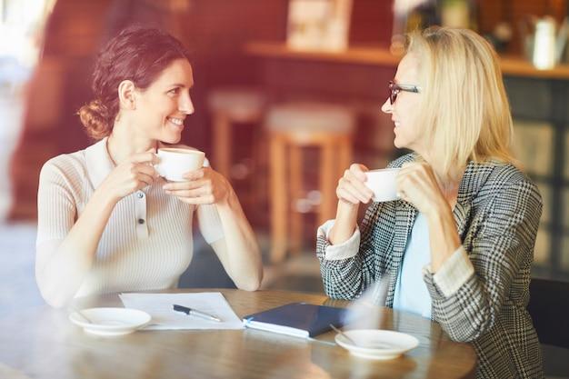 커피 한잔으로 회의