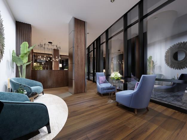 Meeting rest area. 3d rendering