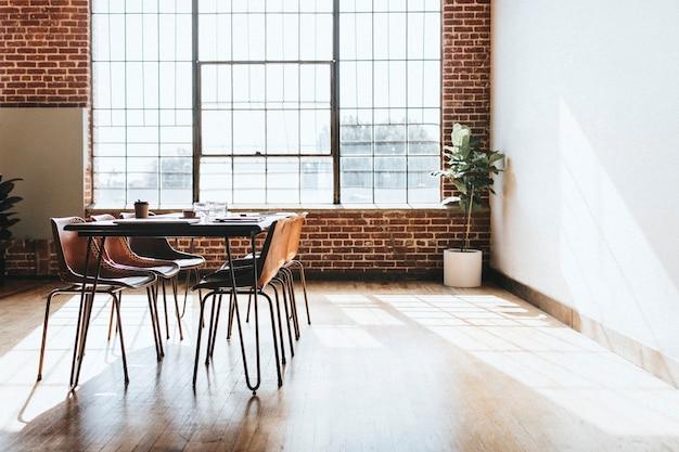 休憩中の会議室