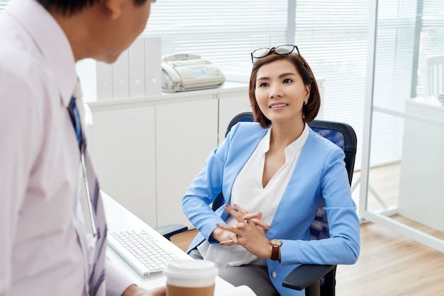Meeting with employee
