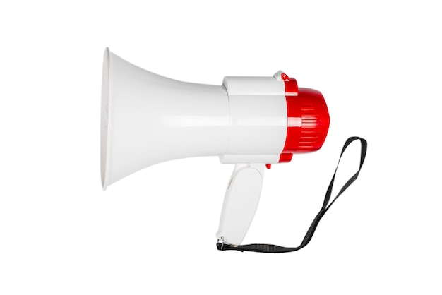 Megaphone isolated on a white background.