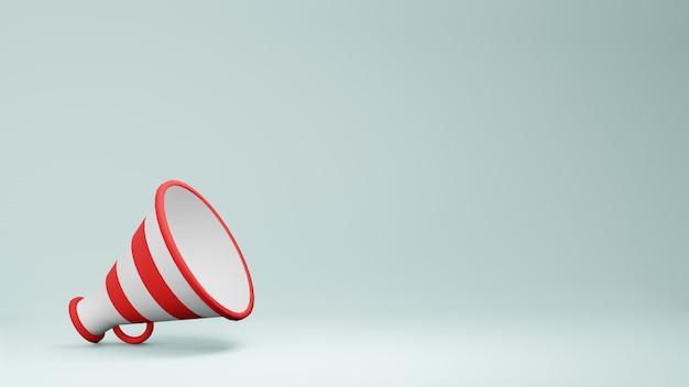 Megaphone speaker 3d rendering