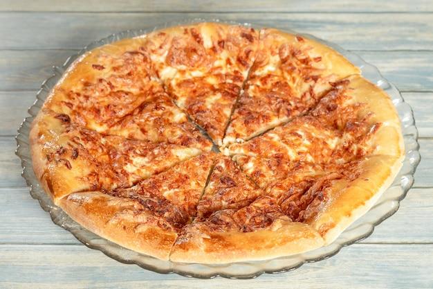 Megrelian khachapuri, traditional caucasian pie with cheese