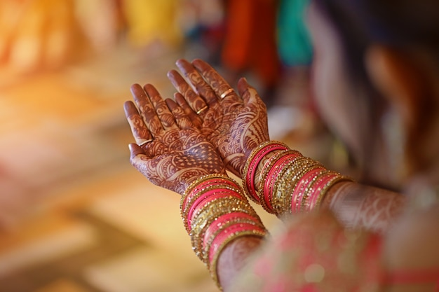 Mehandi on hand , indian wedding