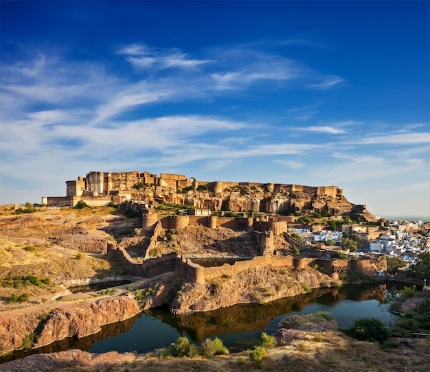 Форт мехрангарх, джодхпур, раджастхан, индия