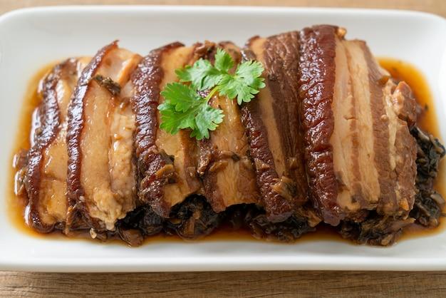 Мэй цай коу роу или рецепты свинины на пару с горчицей сватоу - китайский стиль еды