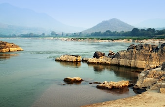 Mekong river at Loas and Thailand