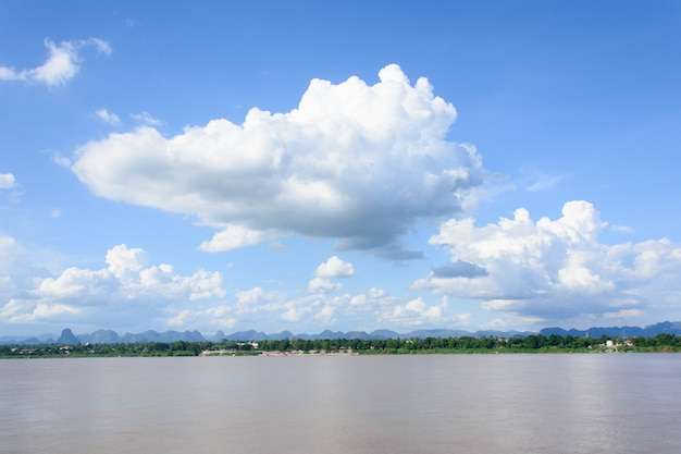 Mekong river and bluesky