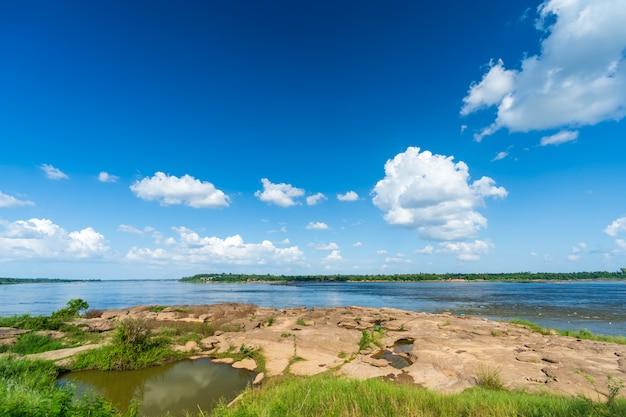 Mekong river at keang ka bao, mukdahan, thailand