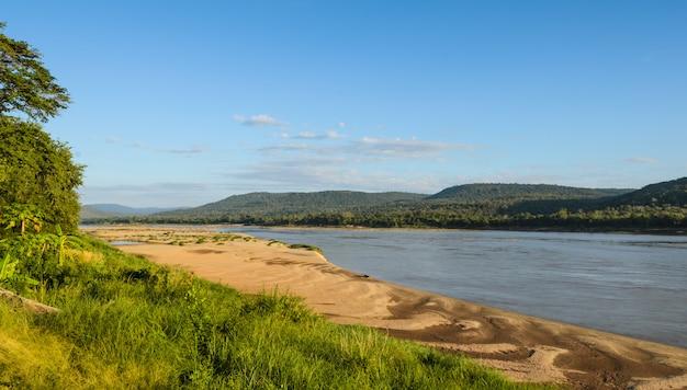 Mekong river in summer season, thailand