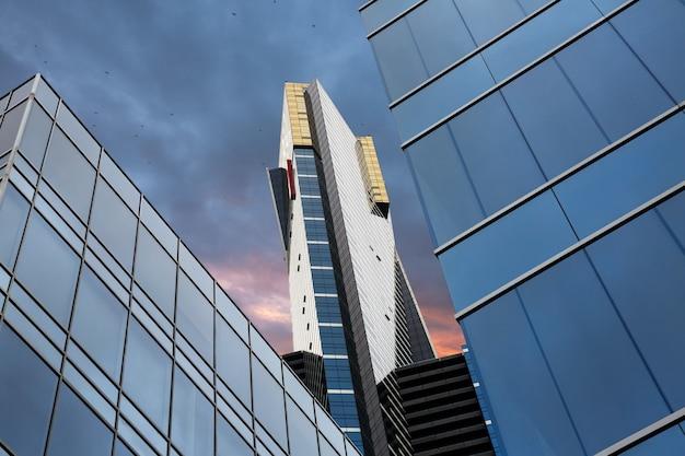 Melbourne, australia - december 10, 2014: eureka tower is a 297.3-metre (975 ft) skyscraper located in the southbank precinct of melbourne, victoria, australia.