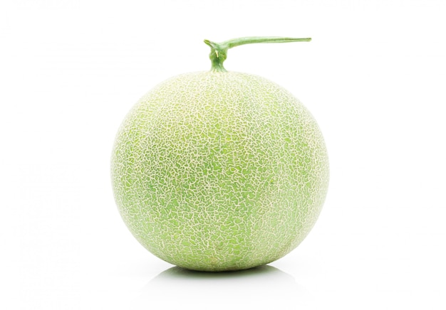 Melon fruit on a white background