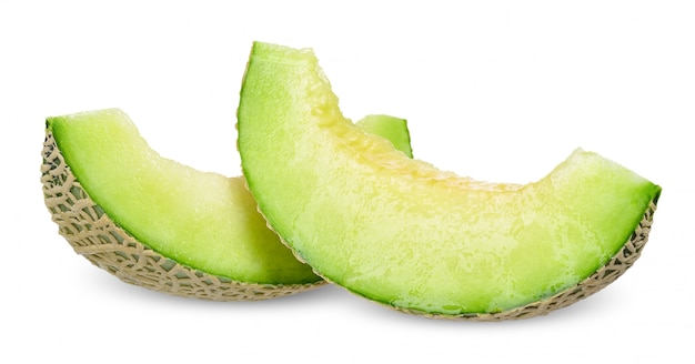 Melon isolated on white clipping path