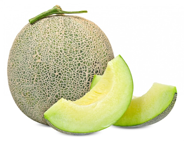 Melon isolated on white with clipping path