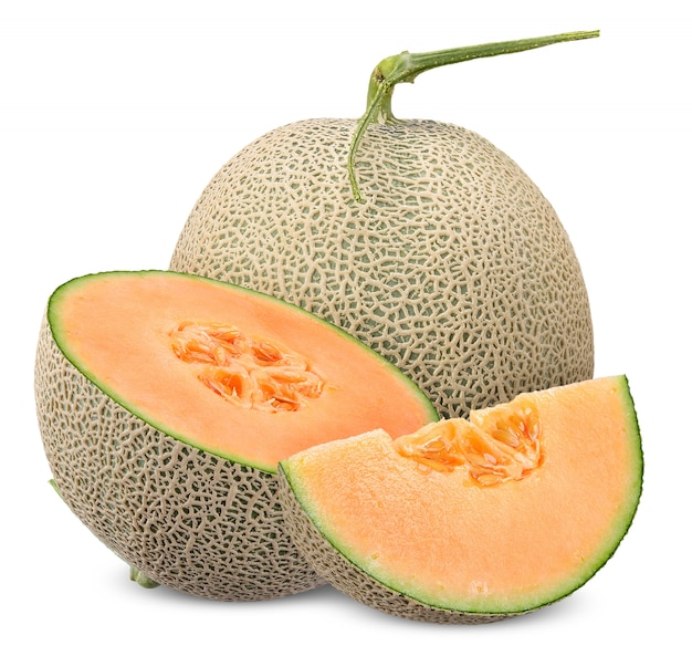 Melon isolated with clipping path