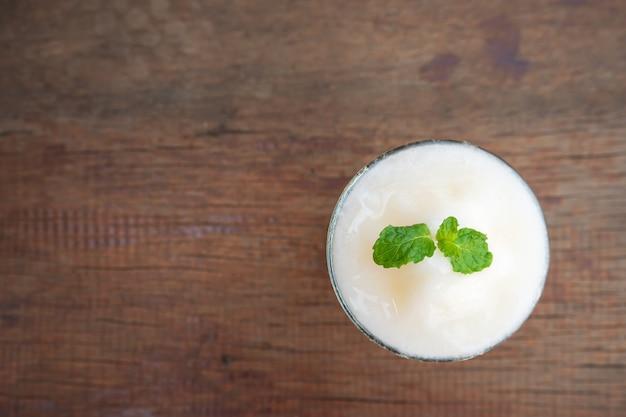 Melon smoothie. freshness drink. summer fruit.