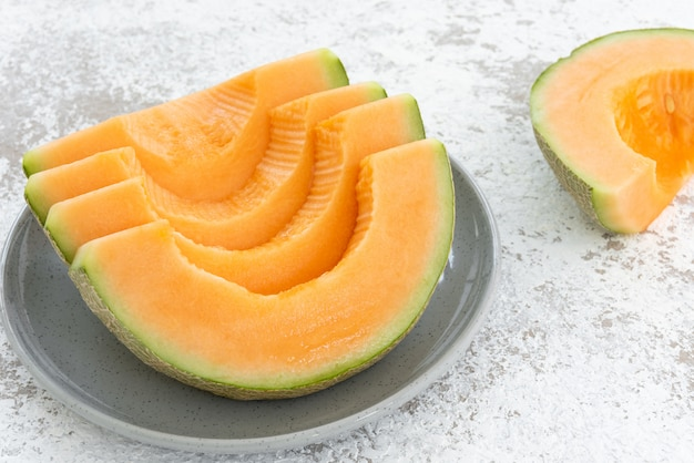 Melon on white background