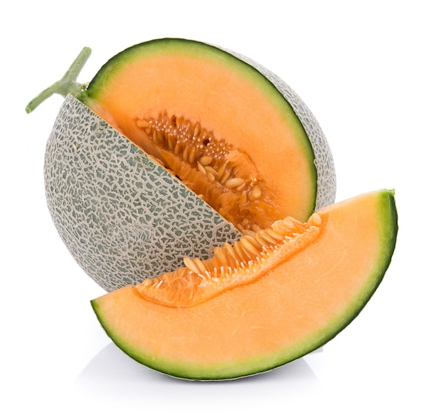 Melon on white wall