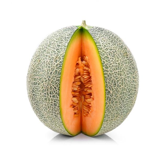Melon on white wall