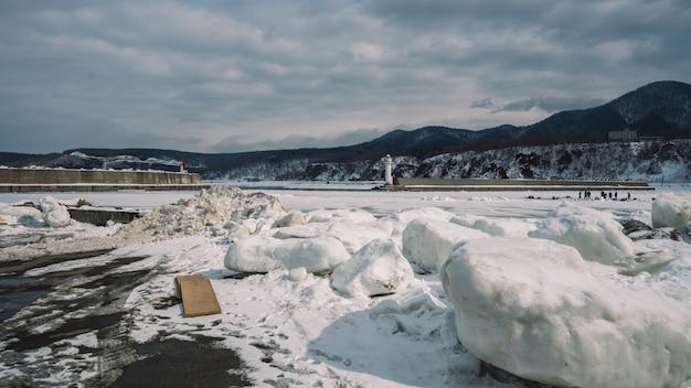 Melt snow landscape