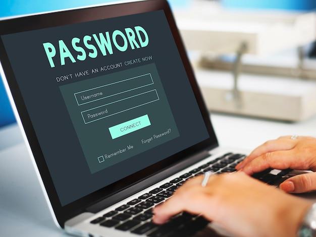 Член входа в систему членство имя пользователя и пароль концепции