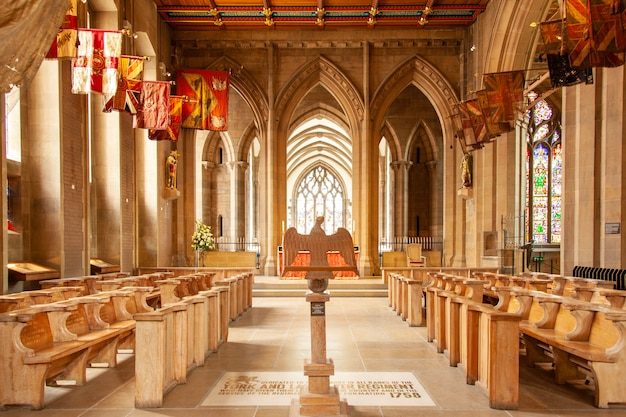 The memorial chapel dedicated to the york and lancaster regiment