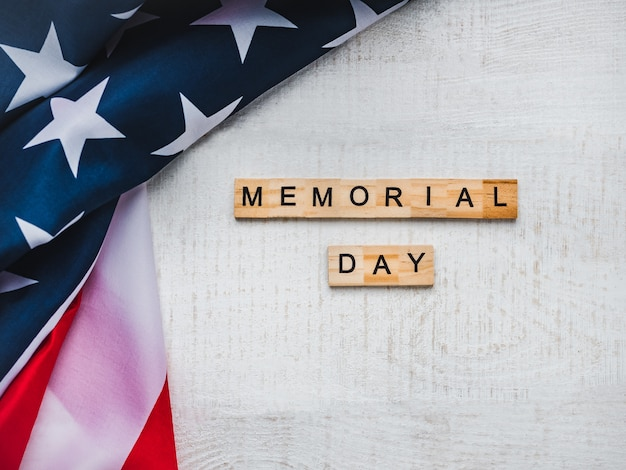 Memorial day. beautiful greeting card. isolated background