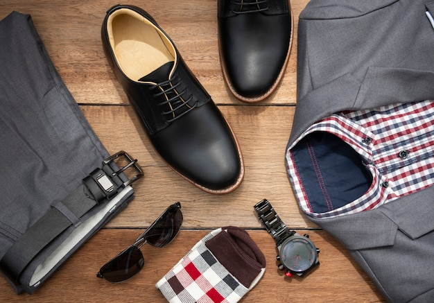 Men fashion casual clothing set and accessories
