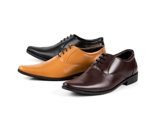 Men fashion office shoes isolated
