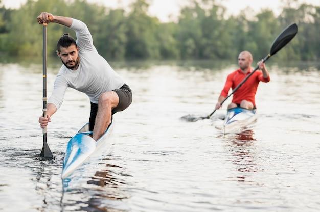 Men having fun in nature