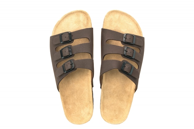 Men leather sandal and flip flop shoes