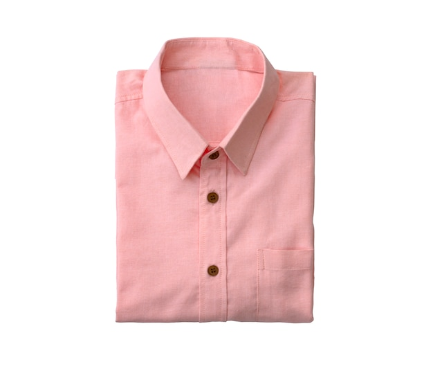 Men pink shirt isolated