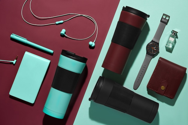 Men's accessories, devices and portable mug