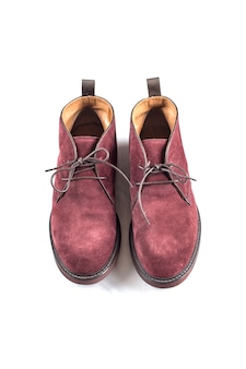 Men's boots winter suede isolate