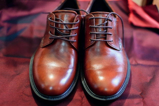 Men's business classic brown lace-up shoes