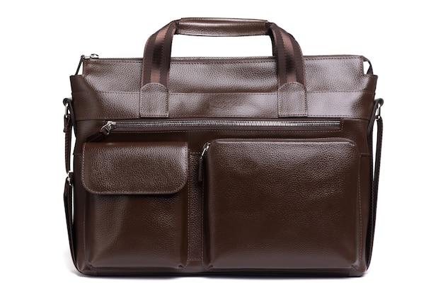 Дорогая мужская кожаная сумка