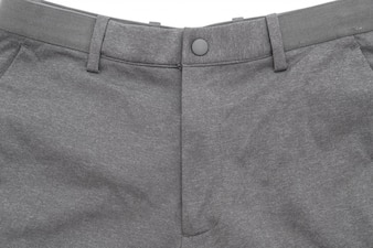 Men's grey pants on white background