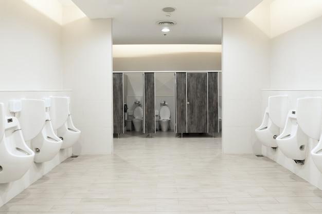 Men's room urinals discharge