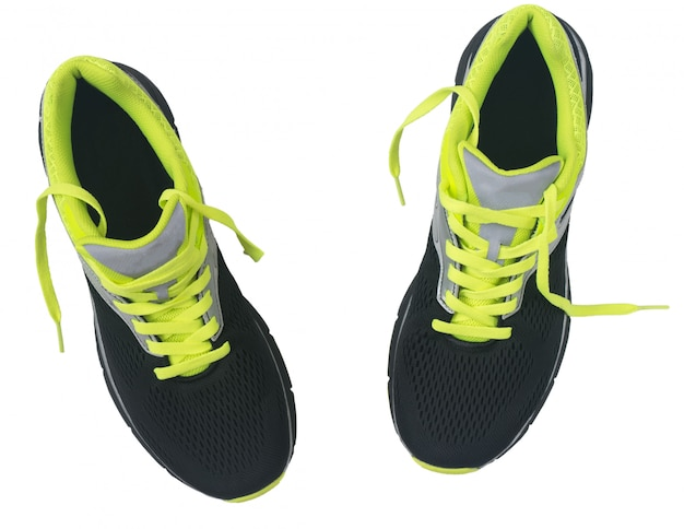Men's shoes for jogging isolated on white background.