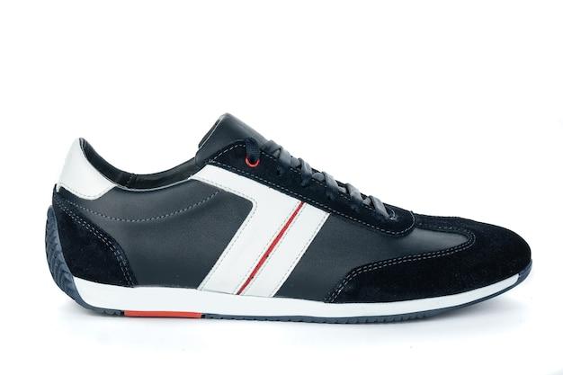 Men's shoes leather boots autumn fashion on white